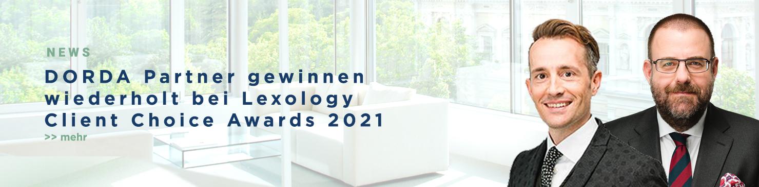 DORDA Partner gewinnen wiederholt bei Lexology Client Choice Awards 202