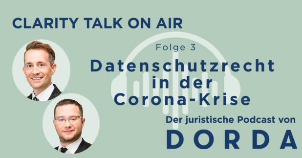 Rechtspodcast: Datenschutzrecht in der Corona-Krise