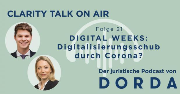 Rechtspodcast: DIGITAL WEEKS: Digitalisierungsschub durch Corona?