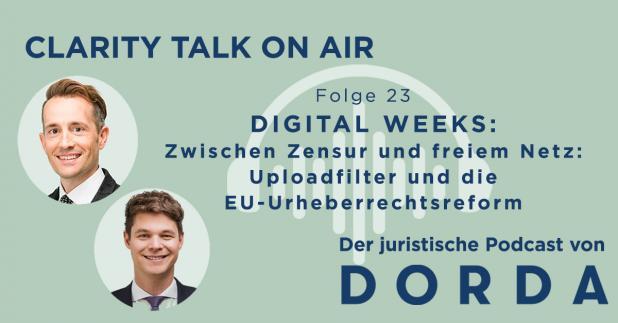 DIGITAL WEEKS: Zwischen Zensur und freiem Netz: Uploadfilter und die EU-Urheberrechtsreform
